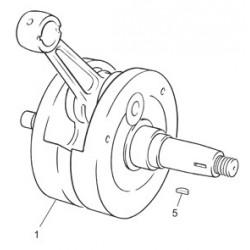 1- CIGUEÑAL COMPLETO 125 cc